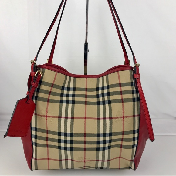 8b07a073f0b9 Burberry Small Canterbury Tote - Honey Red 3939898